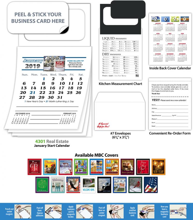 Printing Post Business Card Calendars